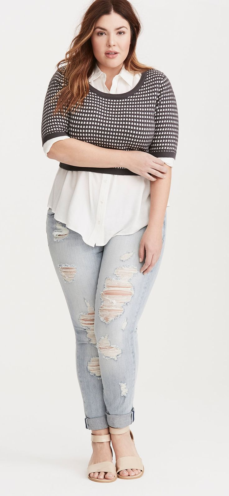 Plus Size Cropped Sweater