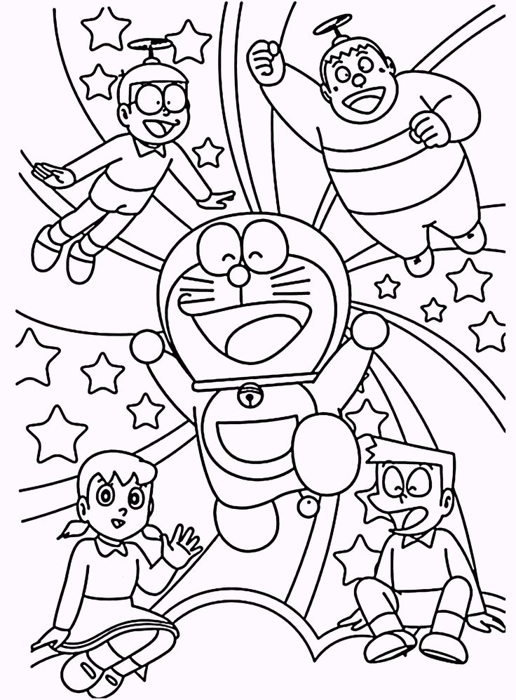 8 best doraemon coloring pages images on pinterest coloring books coloring pages and vintage coloring books - Doraemon Colouring Book