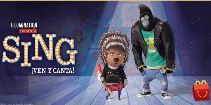 """McDonald'stieneuna nueva Cajita Feliz con juguetes de los personajes de la película de comedia musical animada llamada """"Sing"""" o """"Canta"""": Rosita. Canta si"""