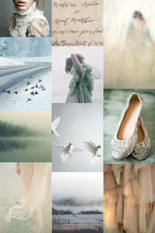 Adore this >> Soft Winter's Glow : Inspiration Board #mint #beige