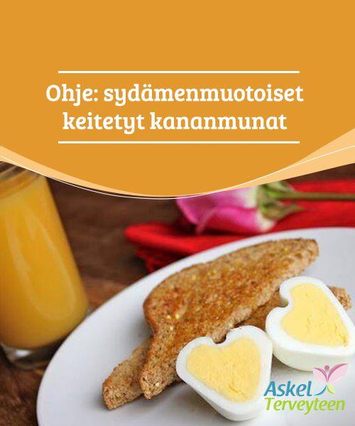 Ohje: sydämenmuotoiset keitetyt #kananmunat  Haluatko yllättää rakkaasi erilaisella aamiaisella tai lisätä annoksen #romantiikkaa terveelliseen välipalaan? Sydämenmuotoiset keitetyt kananmunat on helppo ja hauska valmistaa, ja niillä saat hymyn niin puolison kuin lastenkin kasvoille. #reseptit