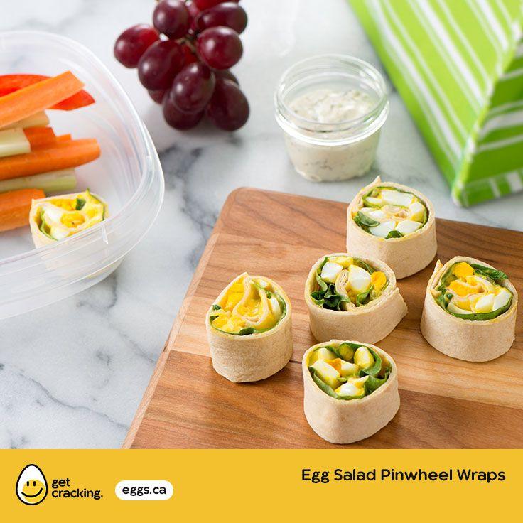 Egg Salad Pinwheel Wraps | Eggs.ca | #GetCracking #Eggs #Picnic Great for kids!