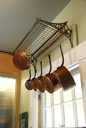 WOW!  Antique Train Luggage Rack Repurposed into Pot Hanger! Upcycle, Recycle, DIY, Vintage Décor, Repurpose!