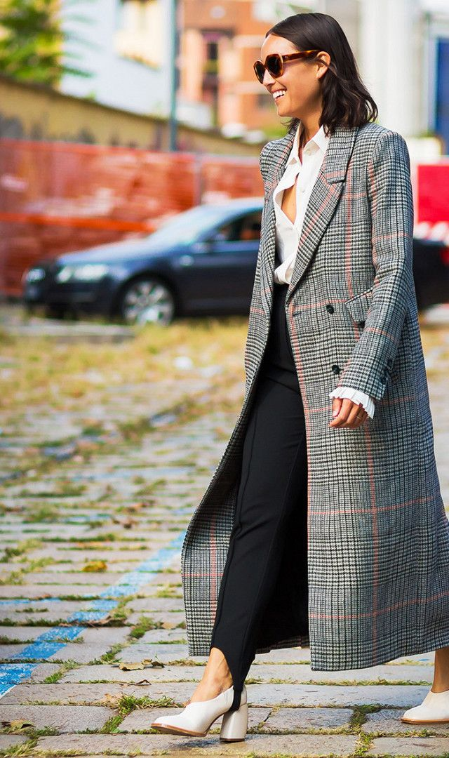 plaid-coat-street-style  Explore our amazing collection of plus size fashion styles and clothing. http://wholesaleplussize.clothing/