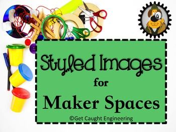 Maker Spaces Styled ImagesThis eye-catching set of 16 styled images focuses on materials used in Maker Space activities. These colorful images are ready-to-use. They are designed for use in blog posts, as product covers, in PowerPoint presentations, on web sites, or on social media platforms like Facebook, Instagram, or Pinterest.