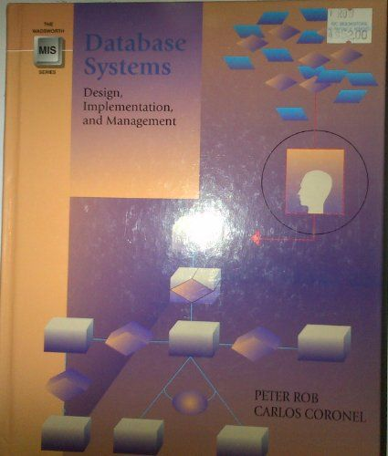 Database Systems: Design, Implementation, and Management (The Wadsworth Series in Management Information Systems). Carlos Coronel, Peter Rob. 750 Pages. This book aims to prepare readers for working in the real world of database management systems by giving them the most current material on leading-edge technology combined with a strong hands-on component that reflects what database professionals really do. Students should come away with a working knowledge of the current database...