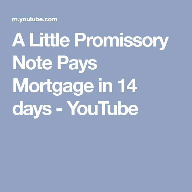 A Little Promissory Note Pays Mortgage in 14 days - YouTube - promissory notes