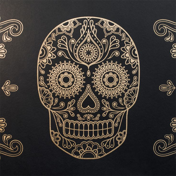 SAMPLES of Day of the Dead Sugar Skull Wallpaper | Street Anatomy Gallery Store