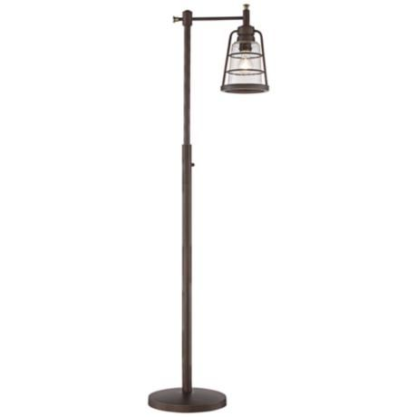 Averill Park Industrial Downbridge Bronze Floor Lamp - #1G324 | LampsPlus.com