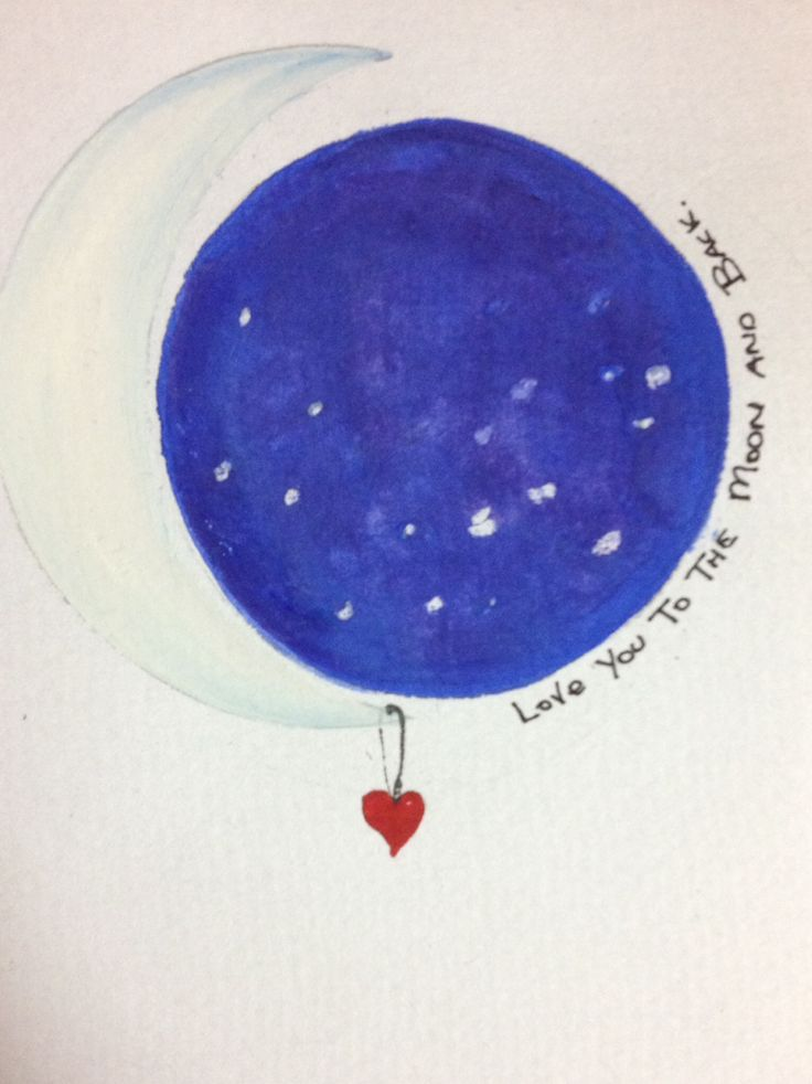 Love you to the moon and back. Water color/colour illustration@bydeasy