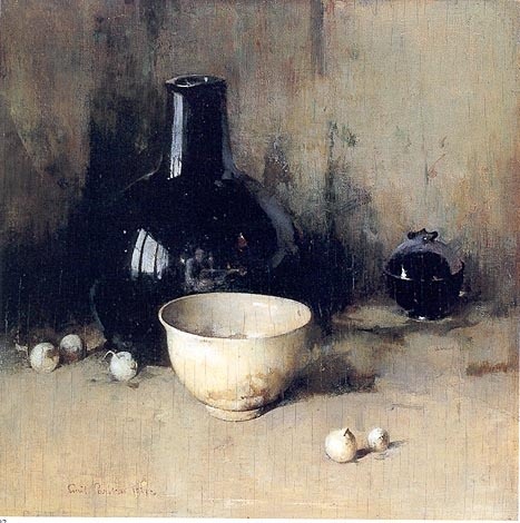 유 Still Life Brushstrokes 유 Nature Morte Painting by Emil Carlsen | Still Life