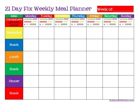How to create a 21 Day Fix Meal Plan | 21 day fix, Meals ...
