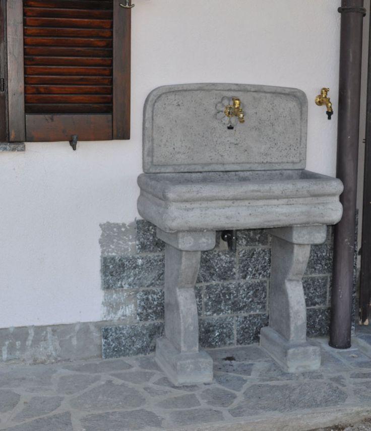 Lavello per esterno (con immagini) Fontane a muro