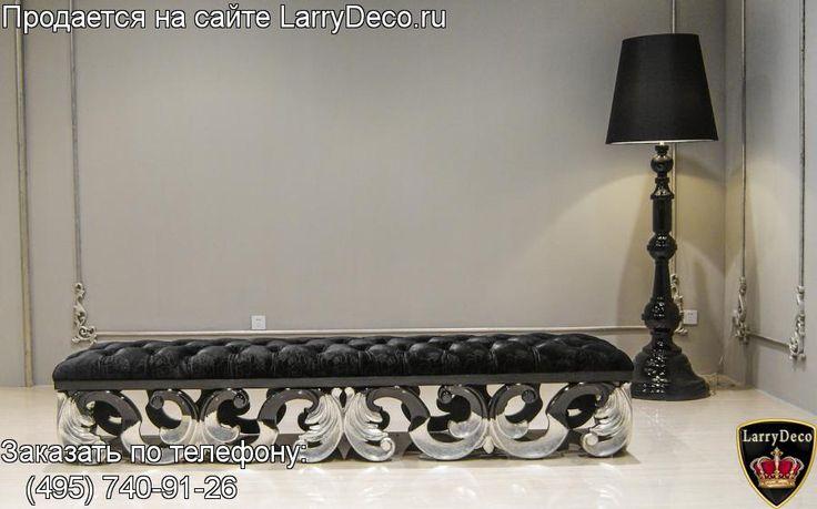 Мебель Италия Пуф - банкетка в стиле Арт Деко выполнена из массива дерева СС 036