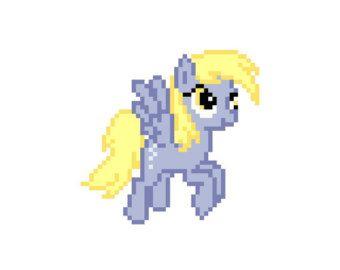 Enganches de Derpy (My Little Pony: la amistad es magia) - punto de cruz patrón