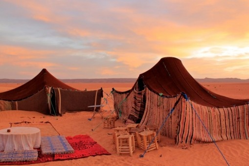 Nomad tents, Sahara, Western Sahara By: nalula