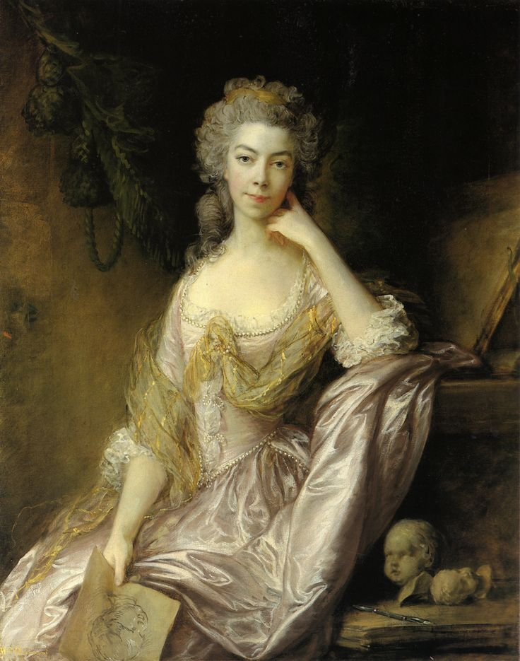 Mrs. Drummond, possibly née Elizabeth Margaret Marshall, by Thomas Gainsborough (private collection) From wikiart