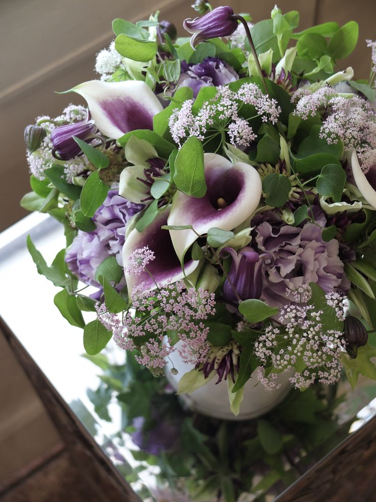 calla,clematis and eustoma