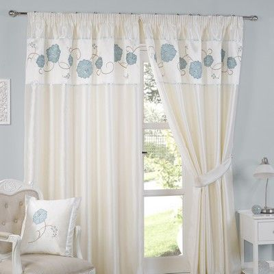 Elford Lined Tape Curtains Duck Egg