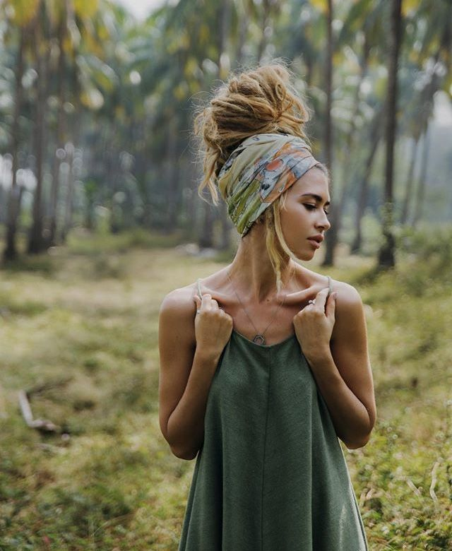 need longer hair for it to get that big, but i dream/ bandana-scarf and tank perfect.