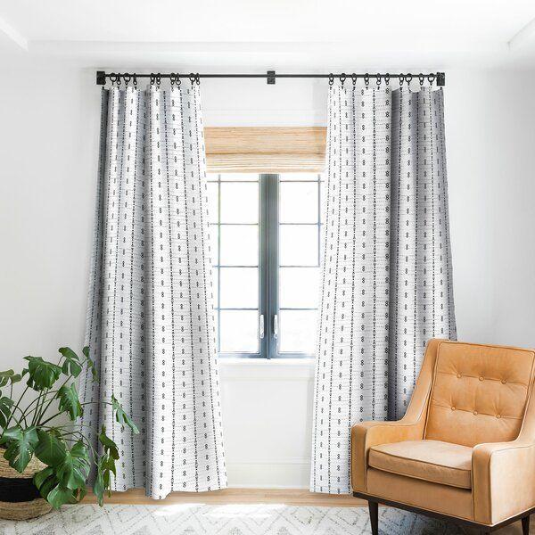 Geometric Pinch Pleat Single Curtain Panel In 2021 Living Room Decor Curtains Curtains Living Room Panel Curtains
