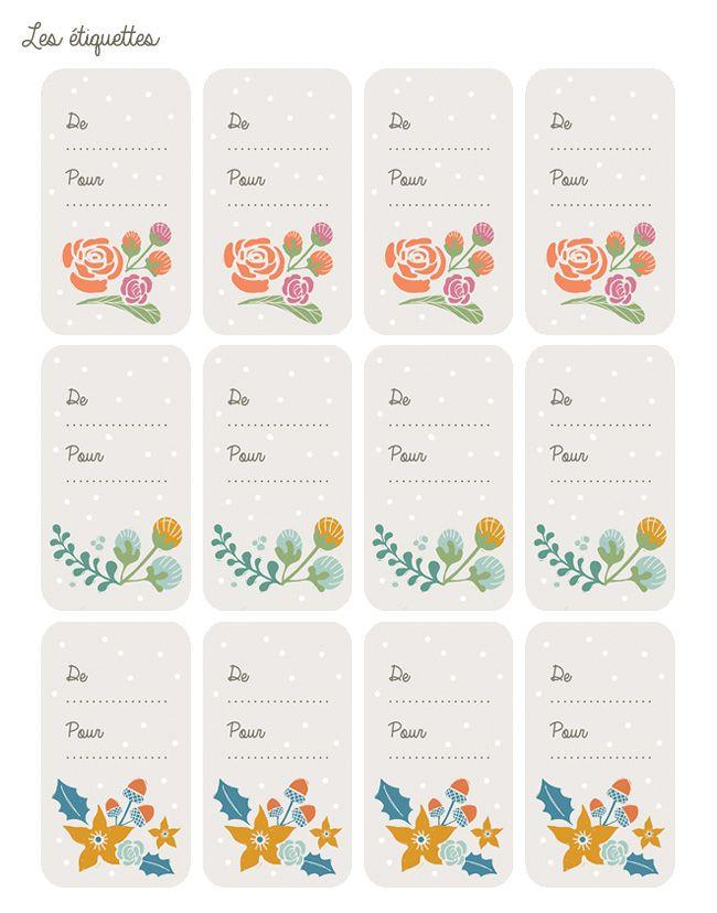 Poligöm // Etiquettes de Noël - Christmas Gift Tags // FREE PRINTABLE