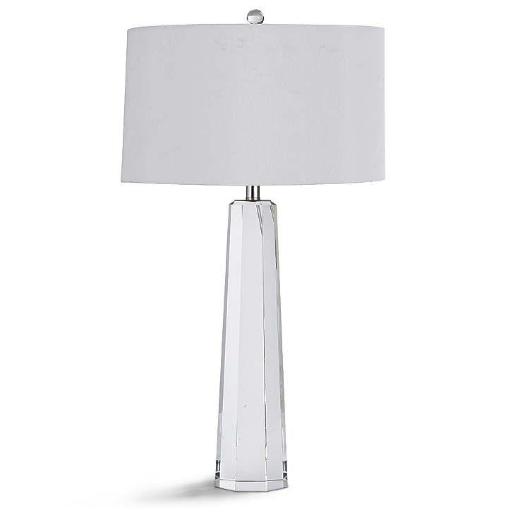 Regina Andrew Tapered Hex Crystal Lamp