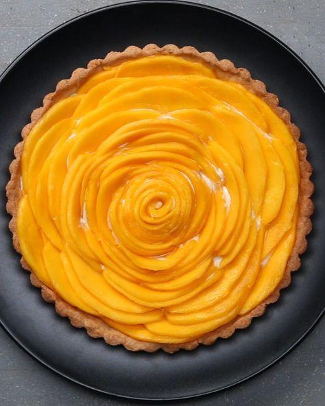 Mango tart,                       So beautiful!