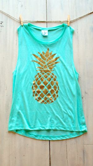 darling mint pineapple tank