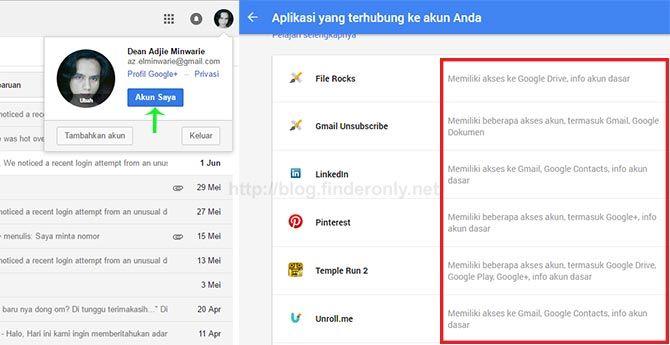 Ketahui Situs / Aplikasi yg Memiliki Akses ke Akun Google Anda