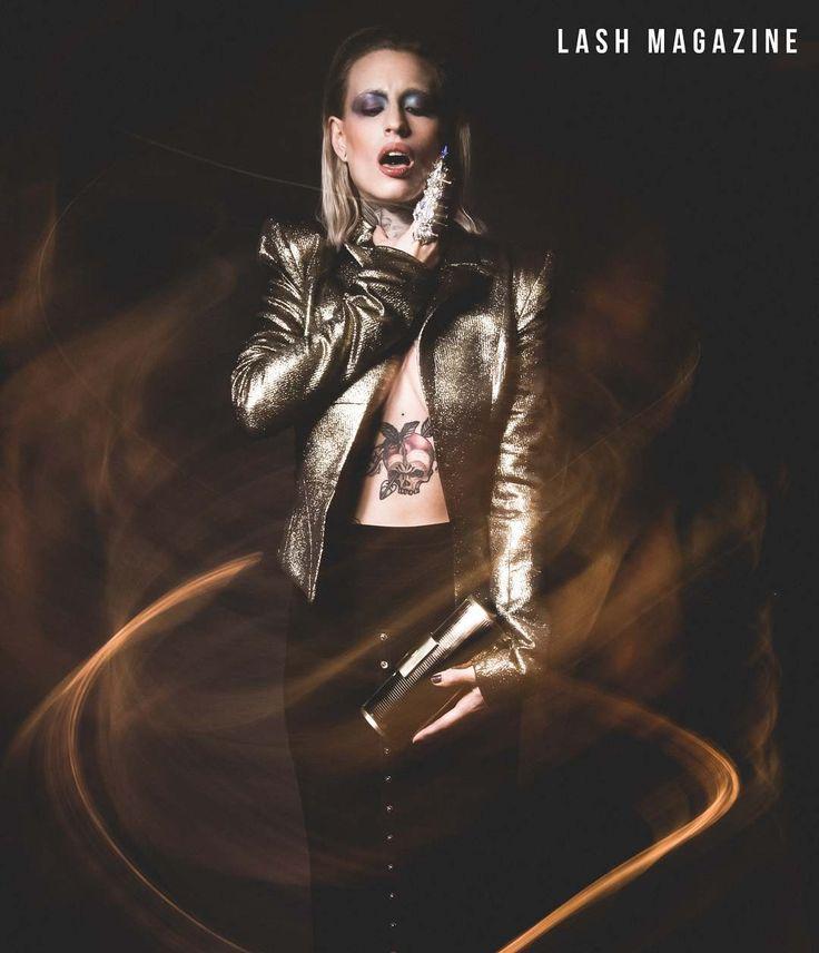 @lucie.clement x @lashmagazine shot by @samirbahrir style by @nikkychicanot muah by @yoanperezmua with #studiomakeup products ------------------------------------------------ Jacket @gretaconstantine Skirt @normakamali Clutch @elisabettafranchi Ring @onauratoutvu  ----------------------------------------------- #tattoomodel #lucieclement #fashioneditorial #editorial #lash #magazine #modelife #tattoolife #ladygaga #fashionista#inkedgirls #tattooedwoman #parisienne #bloggers #model