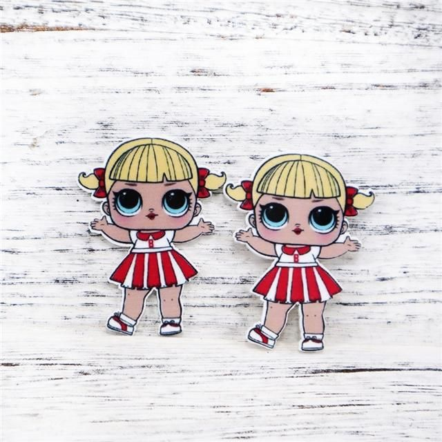 LOL Doll Red and White Cheerleader Resin | Lol dolls, Red ...