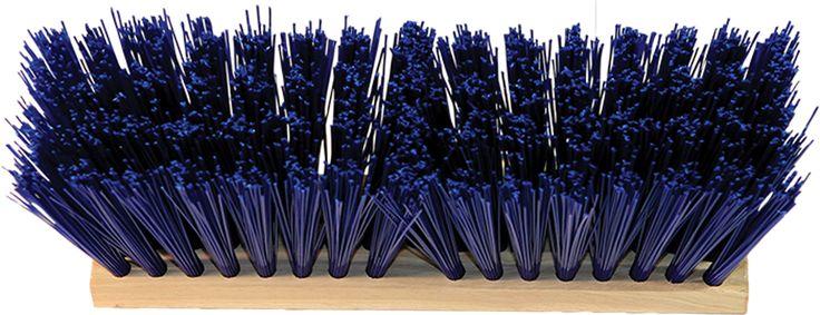 Hamburg-nexstep Comm Prod-Heavy Duty Street Broom Head Only- Blue 16 Inch