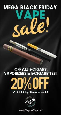 Still have the Itis? No worries, you can take 25% off all of our Vaporizers, E-Cigars and E-Cigs today. Happy shopping! #backfriday