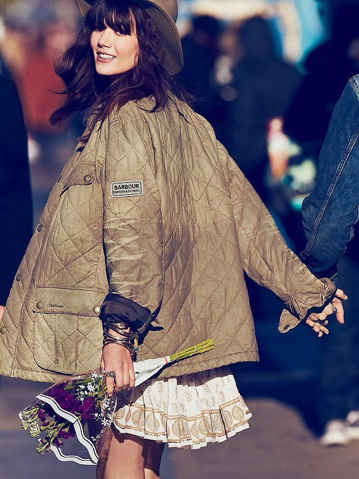 Barbour Distressed Quilted Jacket http://www.freepeople.com/february-catalog-sneak-preview-3/distressed-quilted-jacket/