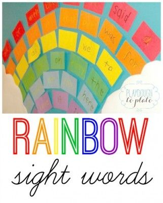 Great way to teach kids sight words this spring! Make a sight word rainbow. {Playdough to Plato}