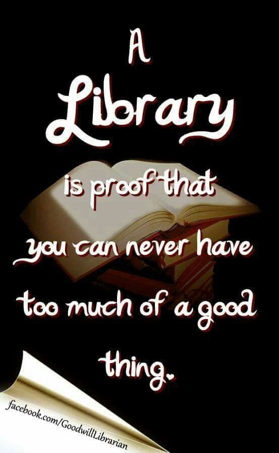 """""""A library is proof you can never have too much of a good thing."""""""
