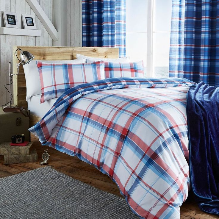 Catherine Lansfield St Ives Check Quilt Cover Set #CatherineLansfield #Traditional