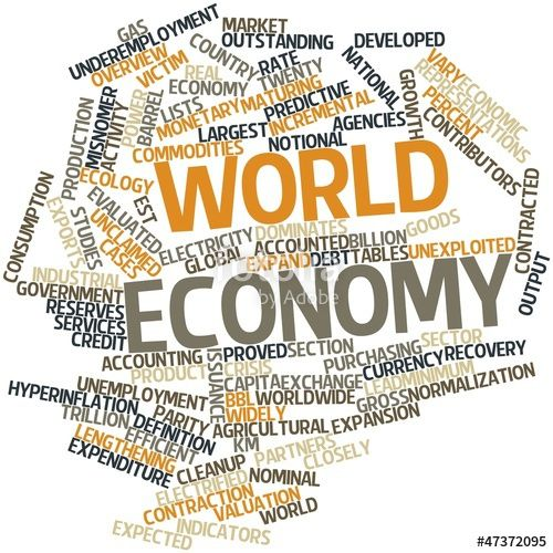 Word cloud for World economy
