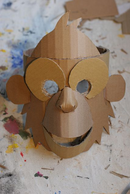 Monkey mask, unpainted | por wrnking