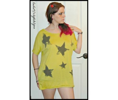 NEW juniors Fashion Star Punk Rock Oversized T Shirt Dress Top M #NEW #GraphicTee
