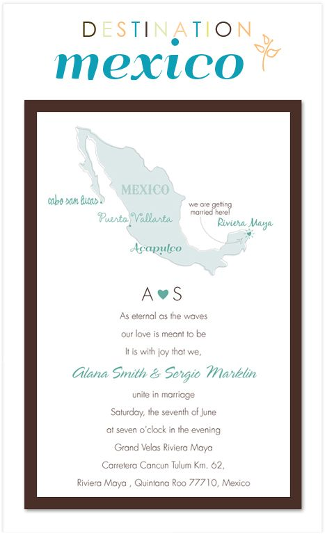 76 best wedding invitations images on pinterest destination destination wedding invitation for a wedding in mexico this will get anyone excited for your filmwisefo Images
