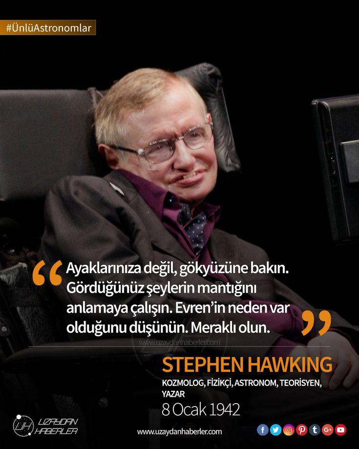 Çağımızın en büyük bilim insanlarından; fizikçi, astronom ve kozmolog olan Stephen Hawking'e mutlu yıllar dileriz. #ÜnlüAstronomlar