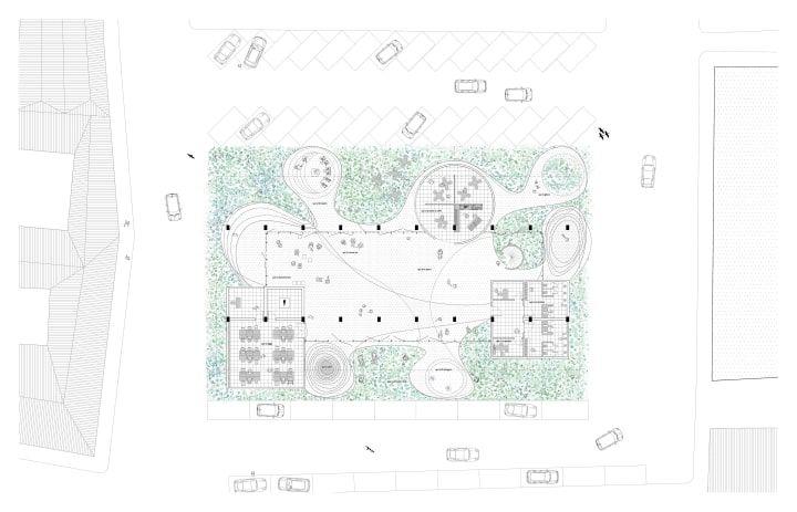 Higher ground - Architecture drawings - plan - playground - Piazza Lupo - Catania - Arcipelago - architettura collettiva