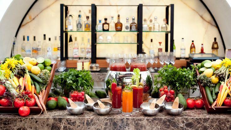 Bloody Mary Bar Hotel Bel Air | It Started in LA | www.itstartedinla.com