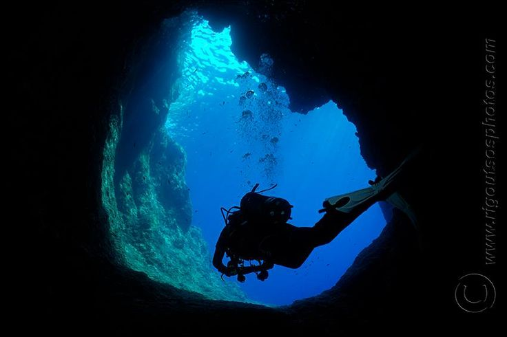 Diving in the Underwater Stalactite Cave at Alyki #Paros #Greece