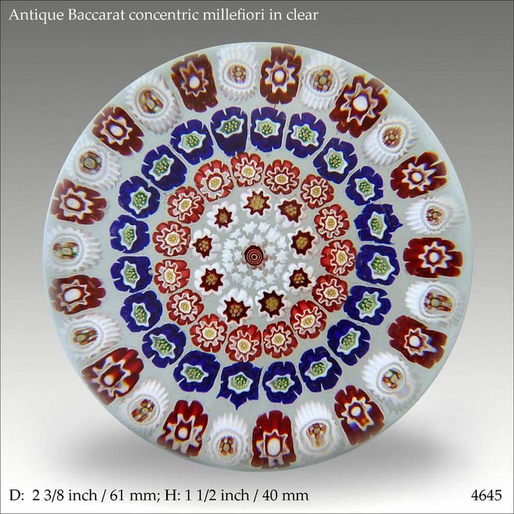 Antique Baccarat concentric millefiori design - a nice set of canes.    www.pwts.co.uk ref. 4645