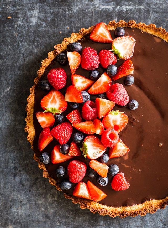 Coconut pie with chocolate filling aka. Bounty cake