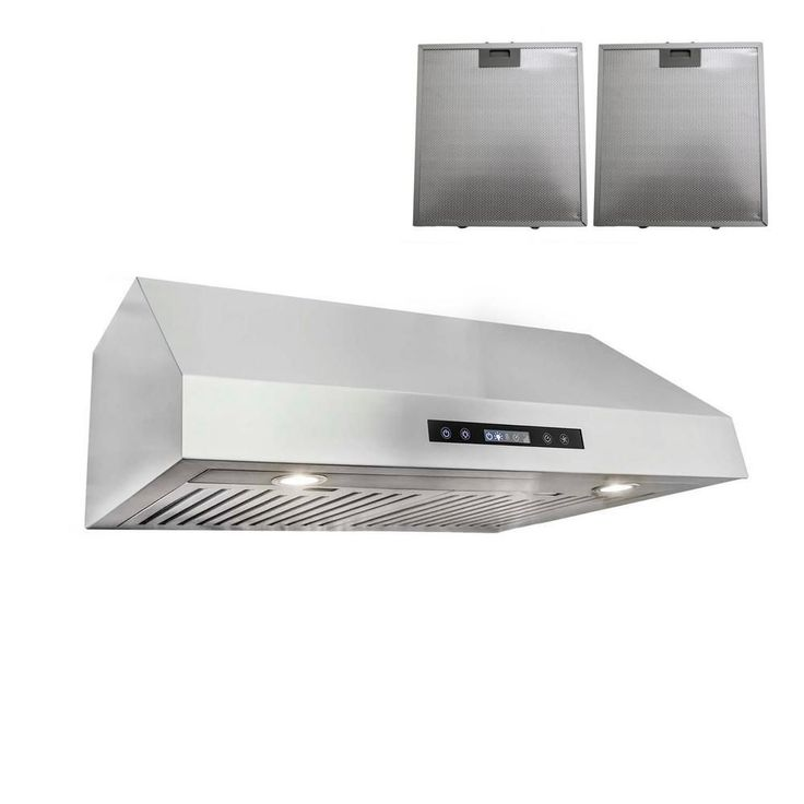 ductless under cabinet range hood in stainless steel silver with - Rangehood