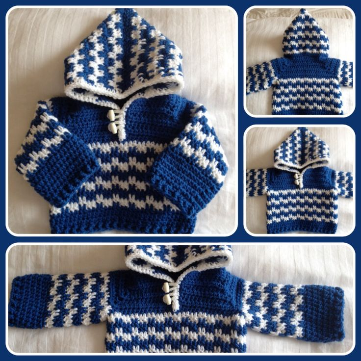 Crochet Hoodie. Really pleased with the finish of this. Based on the Leaping Crochet Baby Hoodie pattern free from Tamara